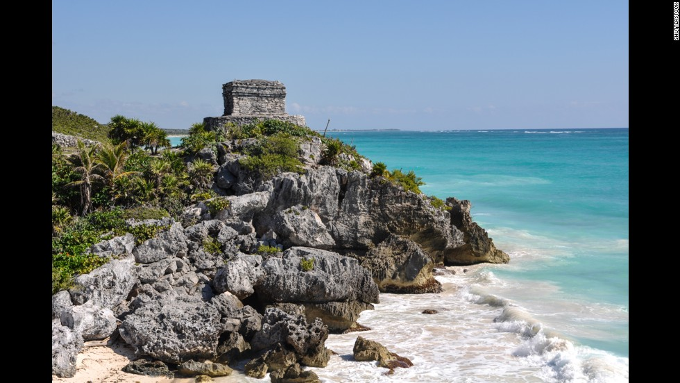 Perched over the Caribbean Sea, the ancient Mayan fortress city of Tulum provides a truly one-of-a-kind beach experience.