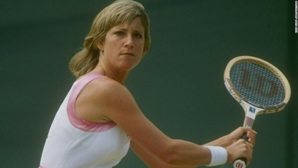 Third on the list is Chris Evert, who spent 262 weeks at the top during a career in which the American won 18 grand slam singles titles -- one more than Williams.