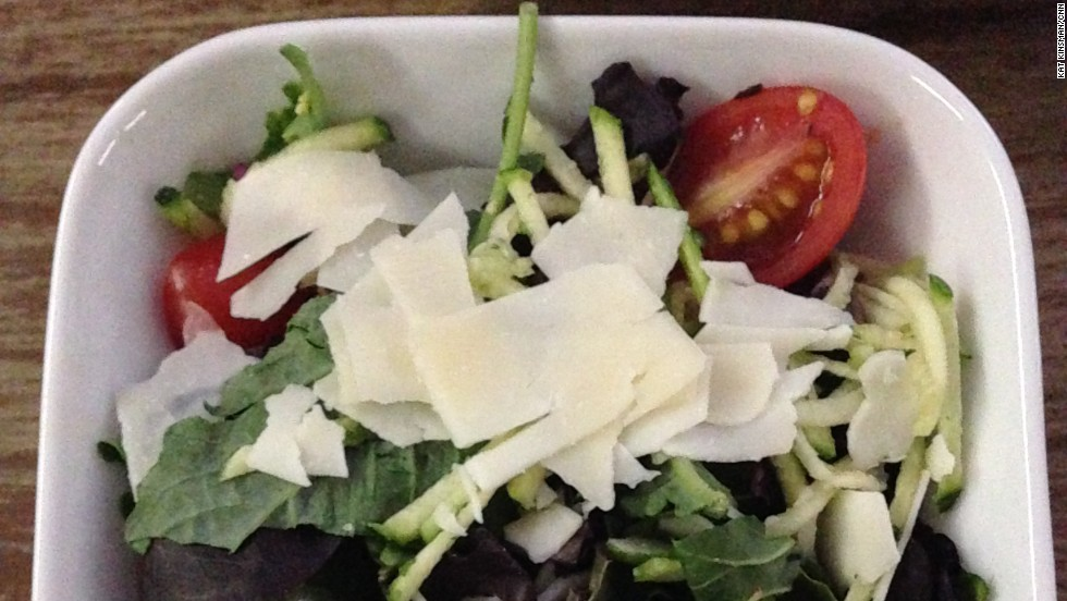 Delta Flight 2022, JFK to LAS: Side salad in business class