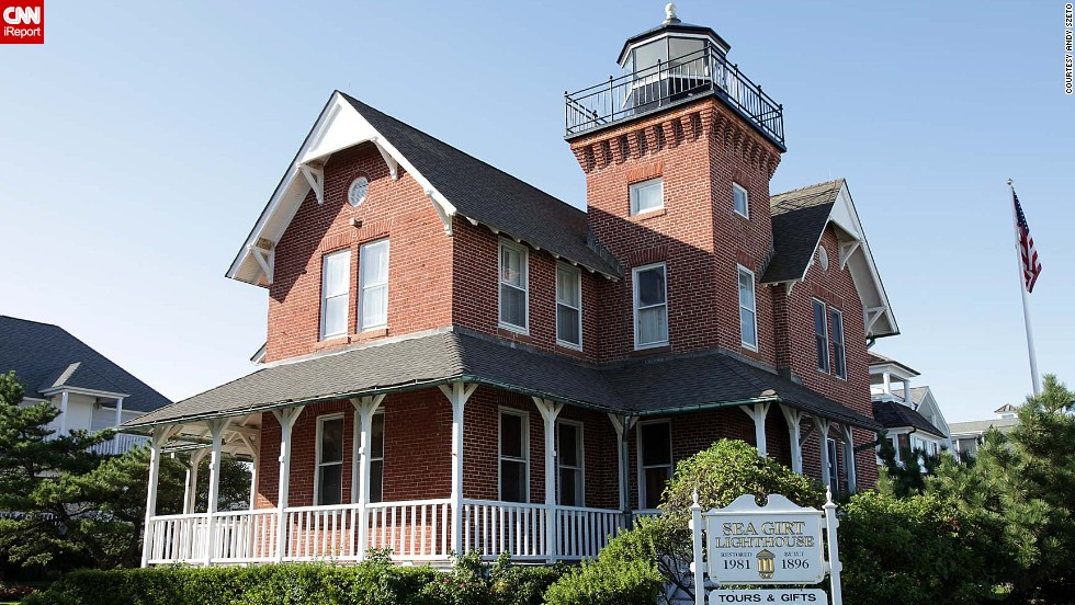 """<a href=""""http://ireport.cnn.com/docs/DOC-1157287"""">Andy Szeto</a> visited this nearby lighthouse when family came to see him in Sea Grit, New Jersey, in 2009: """"It did not look like a lighthouse from the front until we saw the sign and came to the side of it."""""""