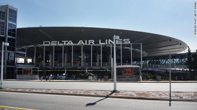 "Delta rescued its gigantic sign from the wrecking ball at JFK's stylish Worldport terminal. It's ""iconic and seemed to beg to be preserved,"" said Delta's Ashley Black."
