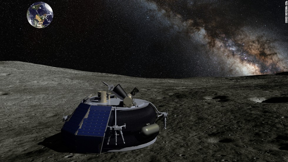 "The Moon Express team hopes to take advantage of the moon's environment by sending a ""hopper"" there. ""When you are on the moon you have one sixth gravity and there's no air resistance so we kind of use those to our advantage,"" said the company's public outreach liaison, Brad Kohlenberg."