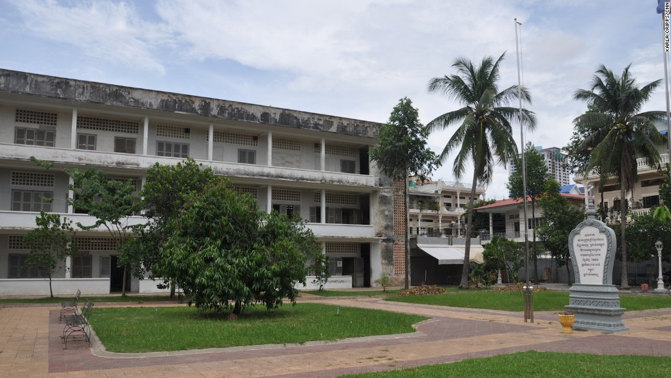 Phnom Penh's Tuol Sleng Genocide Museum is set in what was once a high school and later (1975-1979) used by the Khmer Rouge as a prison and interrogation center.