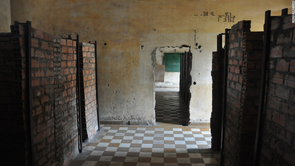 As well as housing the Genocide Museum, Tuol Sleng still features empty rooms and corridors where once school lessons were provided, and later war crimes were committed.