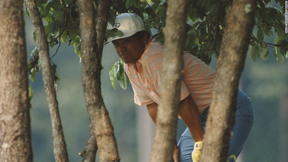"American Lee Trevino peaks out from amidst the trees on his way to glory at 1984 U.S. PGA Championship in Alabama, the sixth and final major success of his illustrious career.<br /><br />""I love the quiet moment of decision,"" says Cannon. <br /><br />""This is one very rare, quiet moment in the life of one of golf's truly great characters on his way to his final major championship.""<br />"