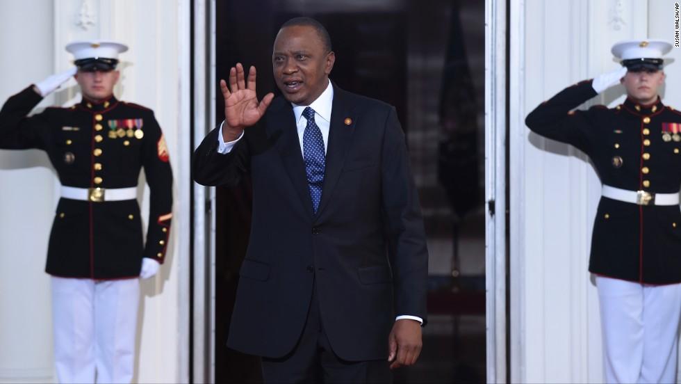 President Uhuru Kenyatta of Kenya.