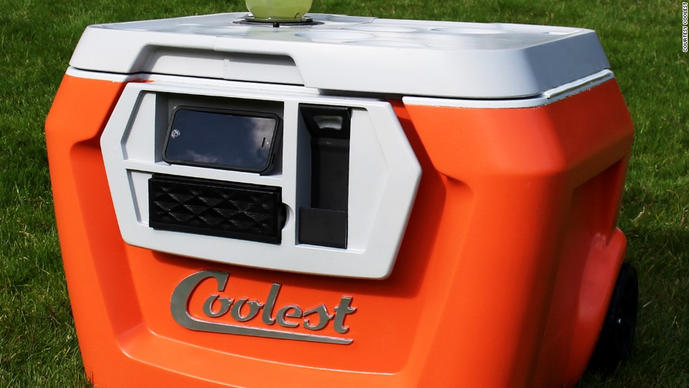 "<strong>Coolest: $8.2 million pledged of $50,000 goal, 41,675 backers --</strong> Described as a ""portable party disguised as a cooler,"" the Coolest comes equipped with a built-in ice crushing blender, a waterproof bluetooth speaker and a USB charger. The campaign will run until August 30."