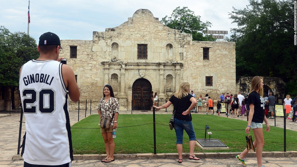Coming third on the list, San Antonio's friendly locals won't be averse to taking a picture for you in front of the historical Alamo Mission.