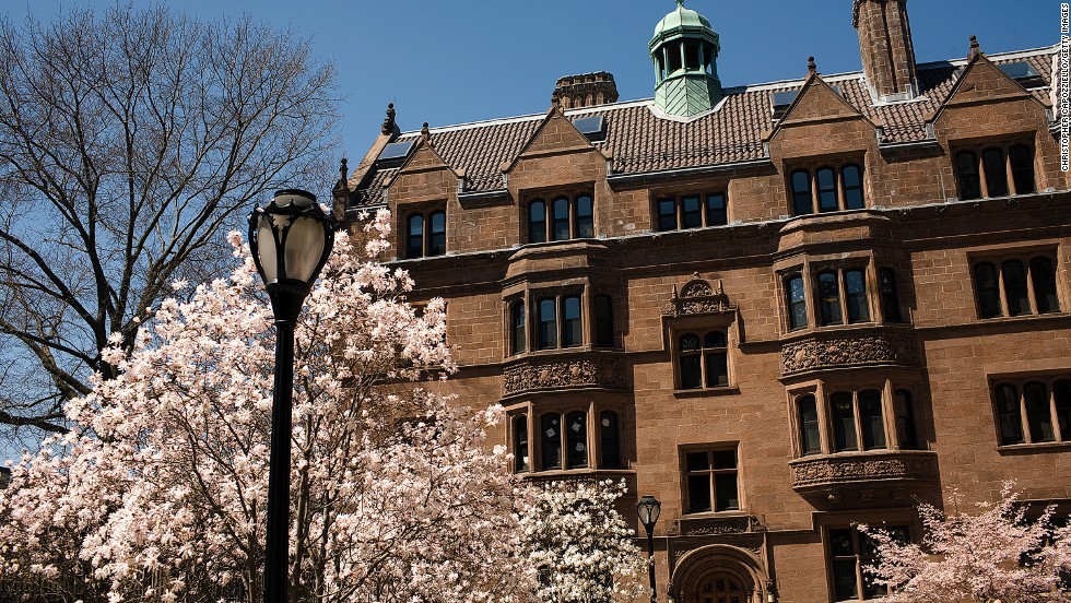 New Haven, Connecticut may boast several educational and cultural attractions including Yale University (pictured), but it's also the fifth unfriendliest city in the United States according to Conde Nast Traveler's poll.