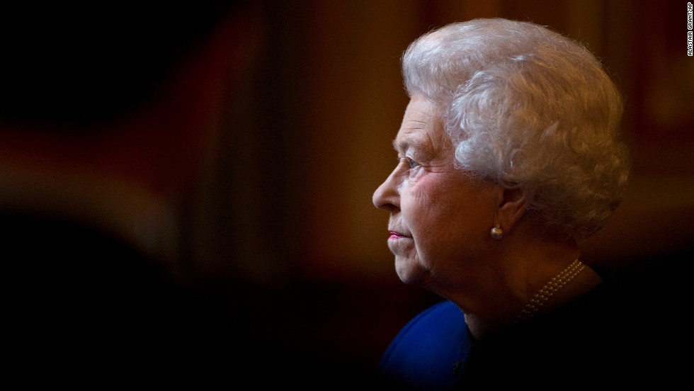 The Queen tours the Foreign and Commonwealth Office in London in December 2012.
