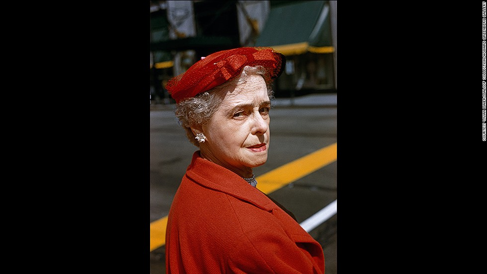 "There is an intimacy in Maier's photos, which may have been aided by her use of the Rolleiflex camera which is held at chest level, allowing her to look straight at the people she was photographing. ""There is trust between Maier and her subjects, and the photos have great intensity -- perhaps because she was maintaining eye contact with them,"" said Rogers.<br /><br />While she is primarily known for her black and white images, Maier also left a small, but equally impressive, body of work in color."