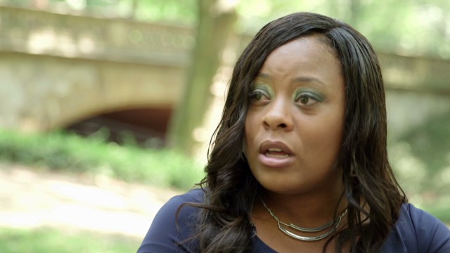 Shanesha Taylor says she left her children in her car in a 'desperate' moment