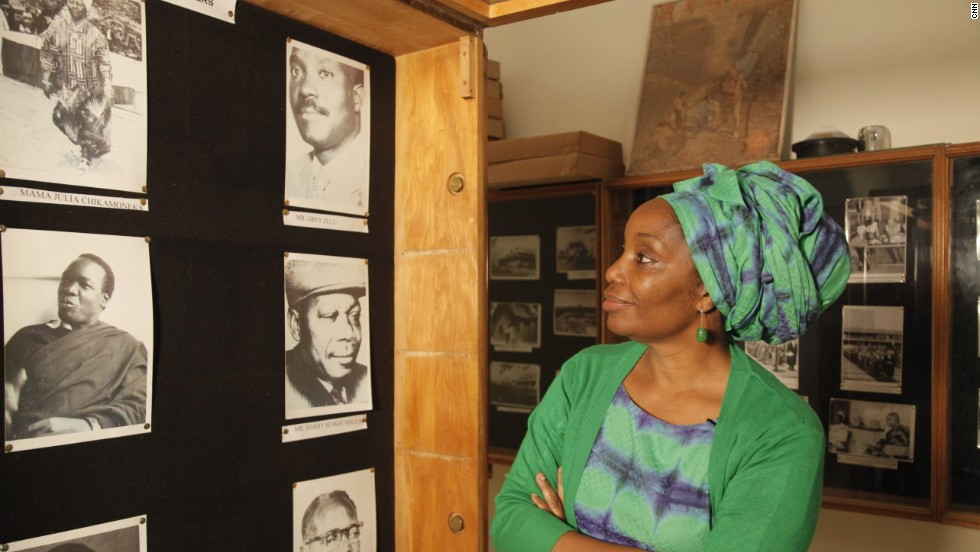 "Her favorite place in Lusaka is the National Archives -- it also holds a special place in her heart thanks to the moments in Zambian history captured on film including her father. ""They do have some really nice photographs that for me are very real because some of are my parents."""