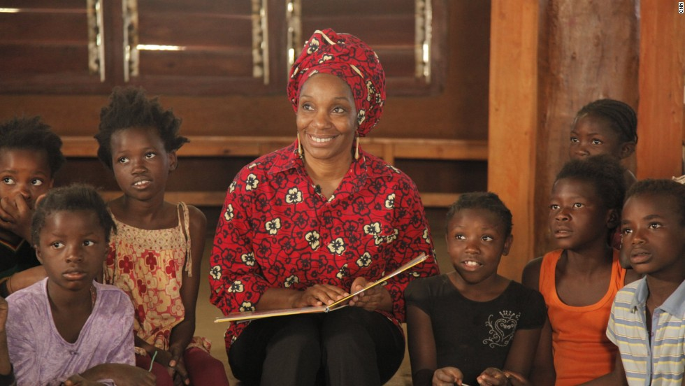 "The talented playwright was surrounded by books during her childhood -- something she wanted to share with children today. So she built three libraries in Lusaka. ""We kind of mix it up with the traditional African hut, where you discuss things and you are mentored. You get knowledge and you interact, there's drama."""