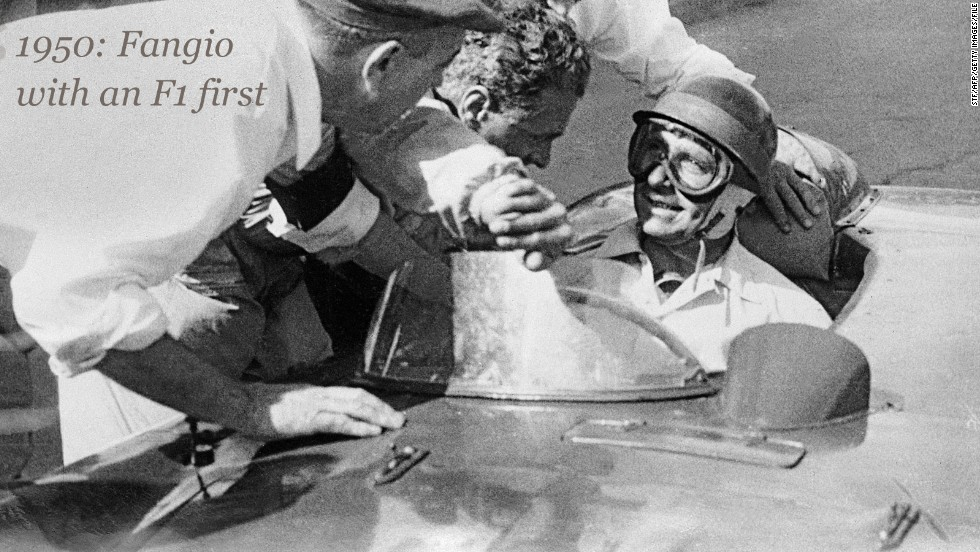 The first Belgian Grand Prix at the Spa-Francochamps circuit took place in 1925, but its first appearance on the F1 championship calendar came in the elite motorsport's debut season a quarter of a century later.<br /><br />The 1950 race was won by Argentinian driver Juan Manuel Fangio (right), who went on to become one of F1's all-time greats.<br /><br />While Fangio triumphed at Spa, his Alfa Romeo teammate Giuseppe Farina would become F1's first world champion thanks to victories in Switzerland, Britain and the decider in Italy.