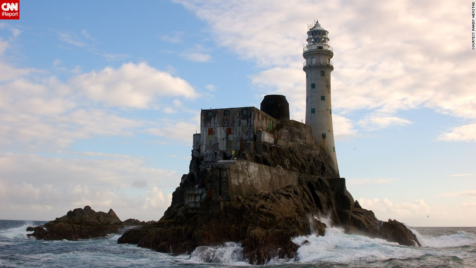 "Lighthouse enthusiast <a href=""http://ireport.cnn.com/docs/DOC-1159167"">Randy Hemstad</a> visited several lighthouses while on vacation in southern Ireland, including the Fastnet Lighthouse, pictured here. ""Fastnet Lighthouse stands out as a great sentinel of the sea and is a testament to the lonely job that light keepers had on this isolated rock for nearly 115 years,"" he said."