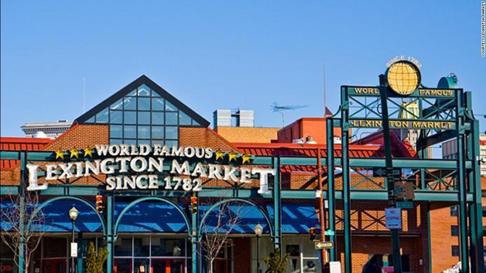 "Baltimore's <a href=""http://www.lexingtonmarket.com/"" target=""_blank"">Lexington Market</a> claims to be the world's largest, continuously running market since 1782. Back then it was a tract of land where farmers spread out butter, eggs, turkey and produce, and bartered with merchants for grain, hay and livestock. The first shed went up in 1803, and by 1925 three block-long sheds housed more than 1,000 stalls. Today it has more than 100 stalls offering prepared foods -- including Faidley Seafood's famous crab cakes -- and fresh fare."