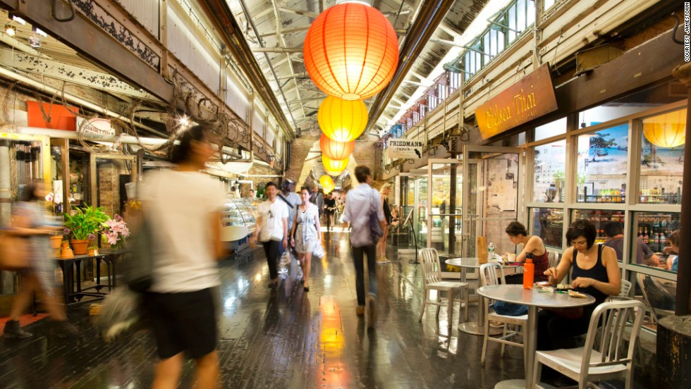 "New York's <a href=""http://www.chelseamarket.com/"" target=""_blank"">Chelsea Market</a> was one of the first modern food markets to embrace the term ""food hall."""