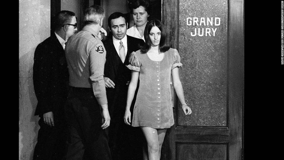 "A break in the case came when Susan Atkins, already in jail, told a fellow inmate about the Tate murders.  ""Because we wanted to do a crime that would shock the world, that the world would have to stand up and take notice,"" she said."