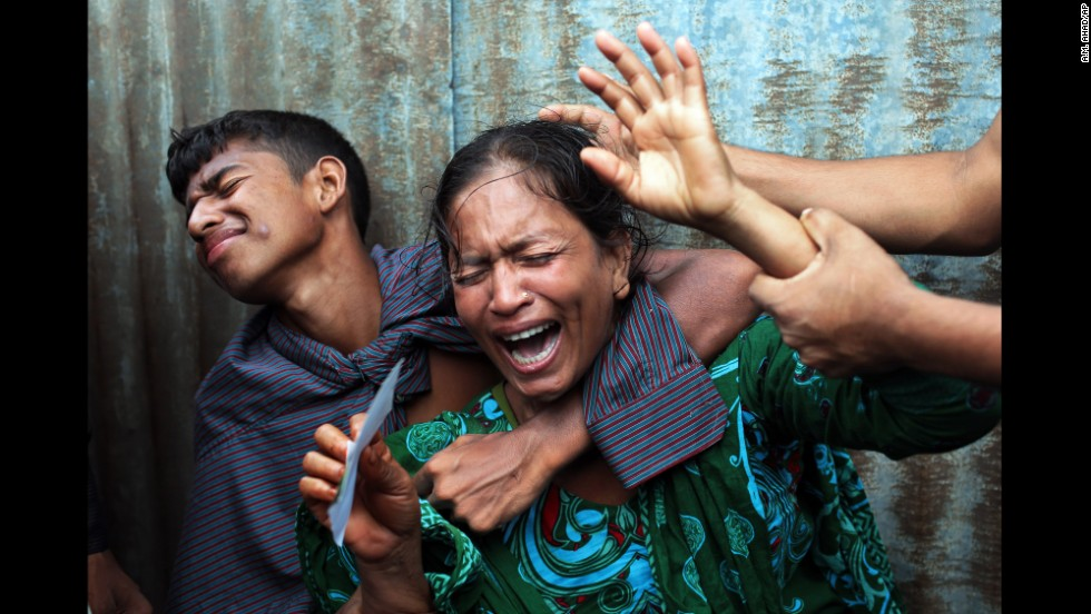 "A woman named Munni cries after a passenger ferry with as many as 300 people on board <a href=""http://www.cnn.com/2014/08/06/world/asia/bangladesh-ferry-rescue-hampered/index.html"">capsized in Bangladesh's Munshiganj district</a> on Monday, August 4. Hundreds of anxious people waited on the bank of the Padma river until late evening as a search for bodies failed to turn up any sign of survivors."