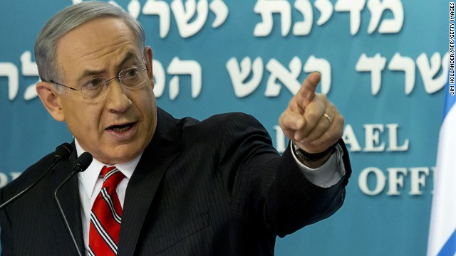 Israeli Prime Minister Benjamin Netanyahu gives a press conference at his Jerusalem office on August 6, 2014.