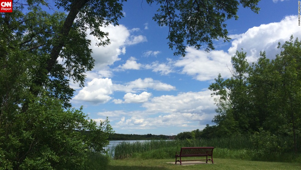 "For 2014's Fourth of July weekend, <a href=""http://ireport.cnn.com/docs/DOC-1150470"">Funda Ray</a> went camping by the Saint Louis River in Cloquet, Minnesota. She said the river's calm waters that day made it an excellent place to go fishing and canoeing."