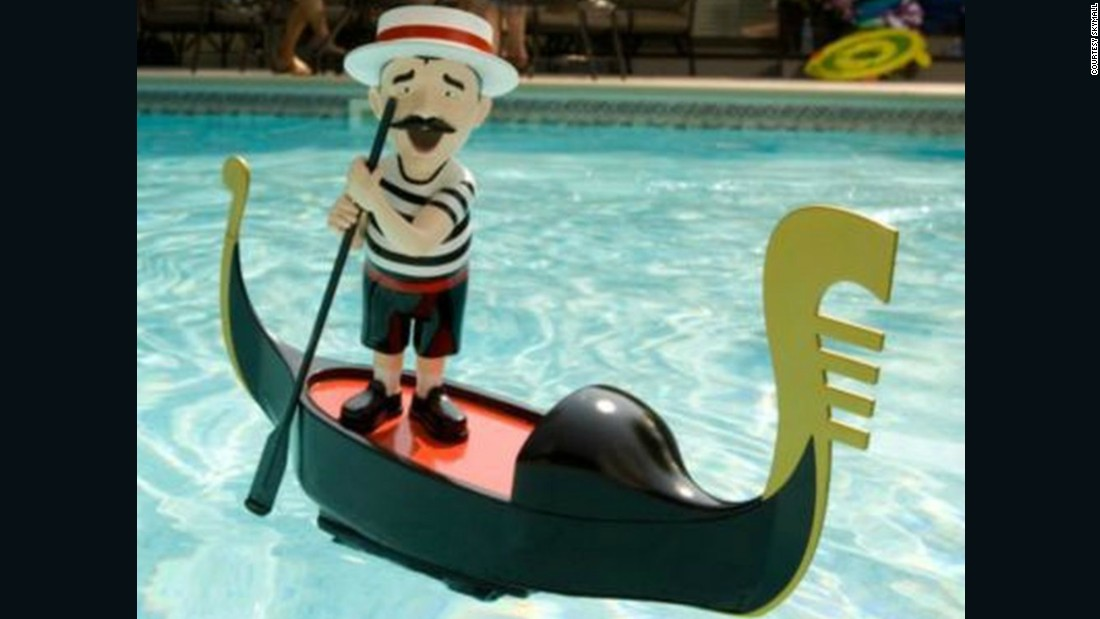 Patio and pool decor -- like this singing gondolier pool toy -- also perform well in the catalog. Just not well enough, sadly.
