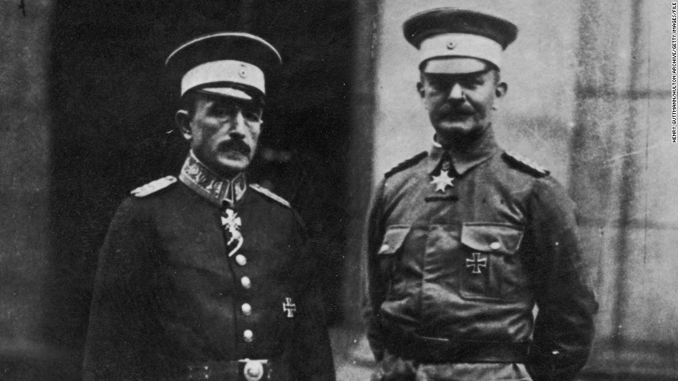 Dr. Heinrich Albert Schnee (left) with von Lettow-Vorbeck in Berlin 1919. The pair were responsible for the political and military administration of German East Africa (modern Tanzania, Burundi und Rwanda) until the colony was lost after World War I.