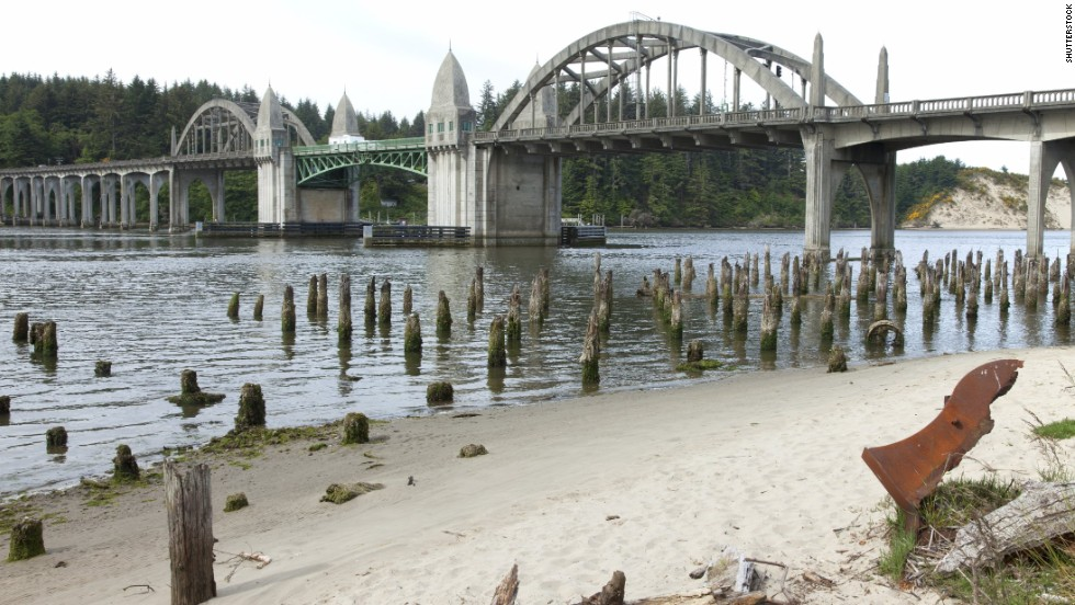 The Siuslaw River Bridge was built in 1936 along U.S. 101 in Florence.