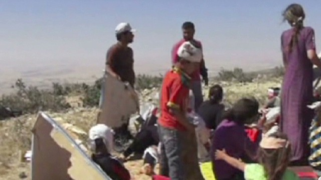 Iraqi Yazidis trapped on Mt. Sinjar