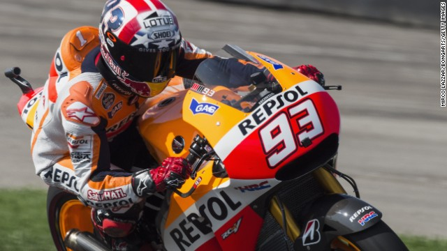 Marc Marquez extended his remarkable winning streak to 10 straight with victory at Indianapolis.