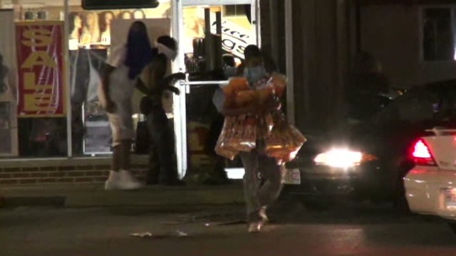 Looting breaks out during protest