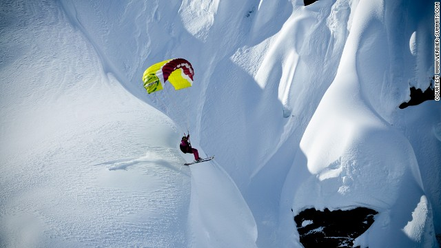 Speed flying is the extreme of extremes -- paragliding plus skiing in the Alps.