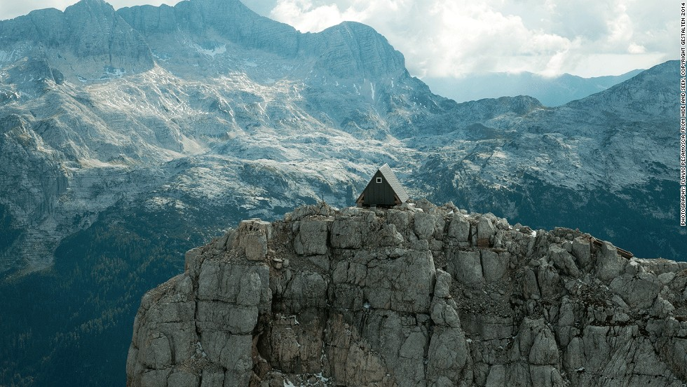 <em>Bivacco Luca Vuerich, Italy</em><br />Is this the ultimate alpine retreat? A simple a-frame shelter situated 2,531 meters above sea level, this mountaintop lookout was designed by Italian practice Giovanni Pesamosca Architetto for mountain climbers in the Julian Alps in the north-eastern tip of Italy.