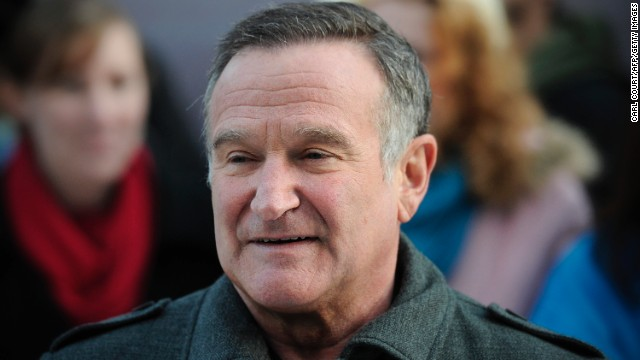 "US actor Robin Williams arrives for the European premiere of ""Happy Feet Two"" in central London on November 20, 2011."