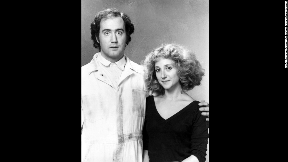 "The world still hasn't come to terms with the 1984 death of Andy Kaufman, seen here with his ""Taxi"" co-star, Carol Kane. Given that Kaufman was a sublime comedian and consummate prankster, there are those who still cling to the hope that the actor/performance artist faked his own death. But as far as we know, comedy lost a great in May 1984, when a 35-year-old Kaufman died of rare form of cancer. Rather than stew on the ""what ifs,"" we'll instead say to Kaufman, ""tank you veddy much."""