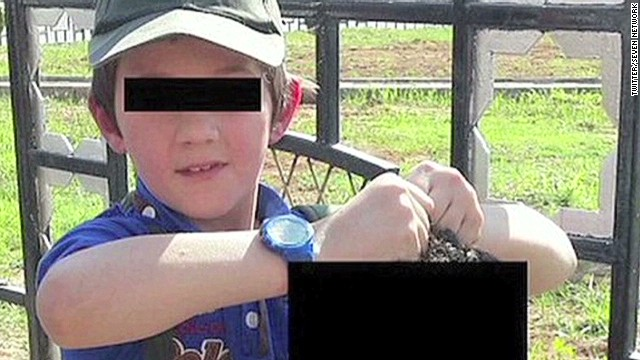 Tweet shows boy holding severed head