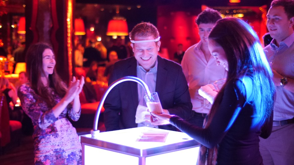 The headband has been used in a number of experiments, including one where a user urged a tap to pour beer through the power of concentration.