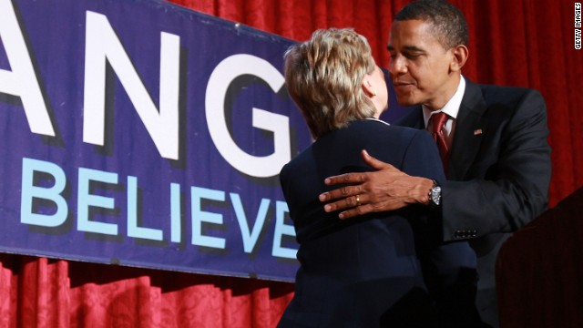 Clinton: Proud I served with Obama