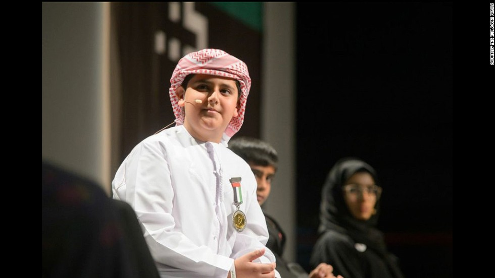 <strong>Adeeb Alblooshi</strong>, a 10-year-old inventor from the United Arab Emirates, created a waterproof prosthetic leg for his father when he was six.