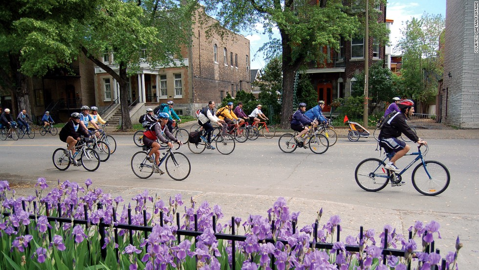 "Montreal has almost 400 miles of bike paths, most used for leisure rides rather than commutes. Each May, the city hosts <a href=""http://www.veloquebec.info/en/govelo/Go-bike-Montreal-festival"" target=""_blank"">Go Bike Montreal Festival</a>, a week of activities dedicated to cyclists and urban living."