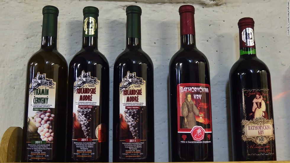 "The ruby red ""Bathory Blood"" label was discontinued in 2010. After some customer pressure, the surprisingly pleasant wine was reintroduced in 2014 along with a special vintage to mark the 400th anniversary of the Countess' death."