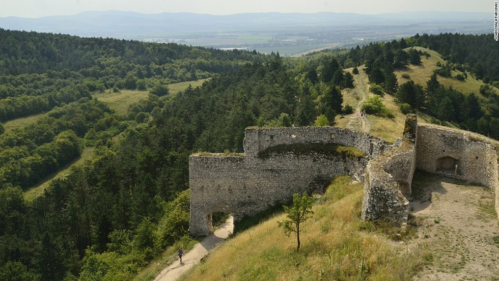 Despite the area's bloody past, the two-mile path under oak, beech and chestnut trees, and through mulberry bushes and wild strawberries, offers a pleasant walk (or run) away from the castle.