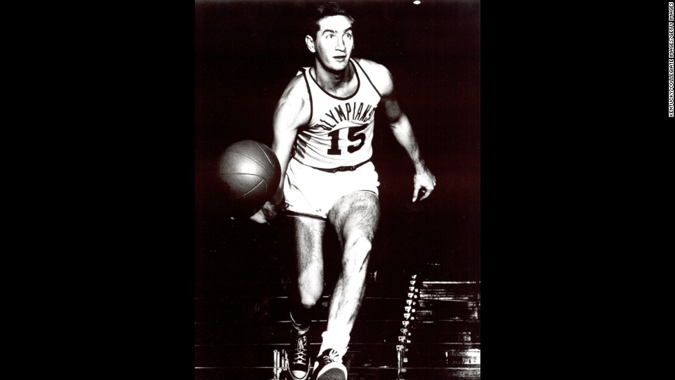 Alex Groza led the 1948 U.S. basketball team to an Olympic gold medal, won back-to-back NCAA titles at the University of Kentucky and became a first round NBA selection.  Implication in a point-shaving scandal during his college days brought the final buzzer to Groza's NBA career via banishment in 1951.