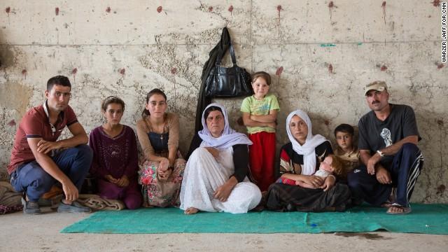A portrait of Aziza's family.