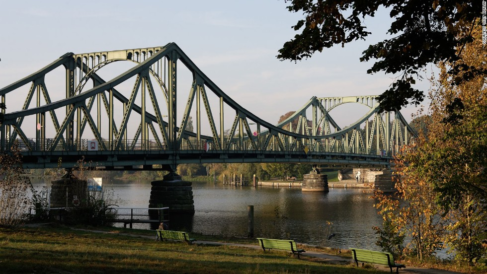 The Glienicke Brucke, or Bridge of Spies, between Wannsee in West Berlin and Potsdam in the East, was used for the exchange of captured agents.
