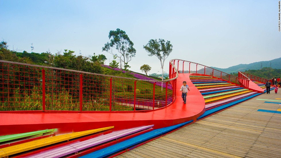China's answer to Walt Disney World, OCT East in Shenzhen is an equally vast, sprawling park consisting of a seaside level and a mountaintop level with fantastic views of the park.