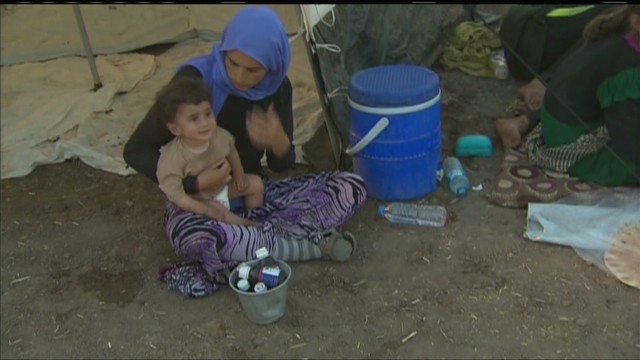 Yazidis take refuge from ISIS militants
