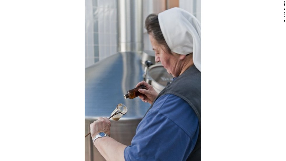 "Sister Doris maintains that brewing is ""women's work,"" since female brewers were once common in the Middle Ages."