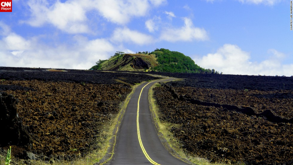 "<a href=""http://ireport.cnn.com/docs/DOC-855894"">Lee Gunderson</a> captured a lonely stretch of road in February 2006 on the Big Island, leading to the base of Mauna Kea and the W. M. Keck Observatory."